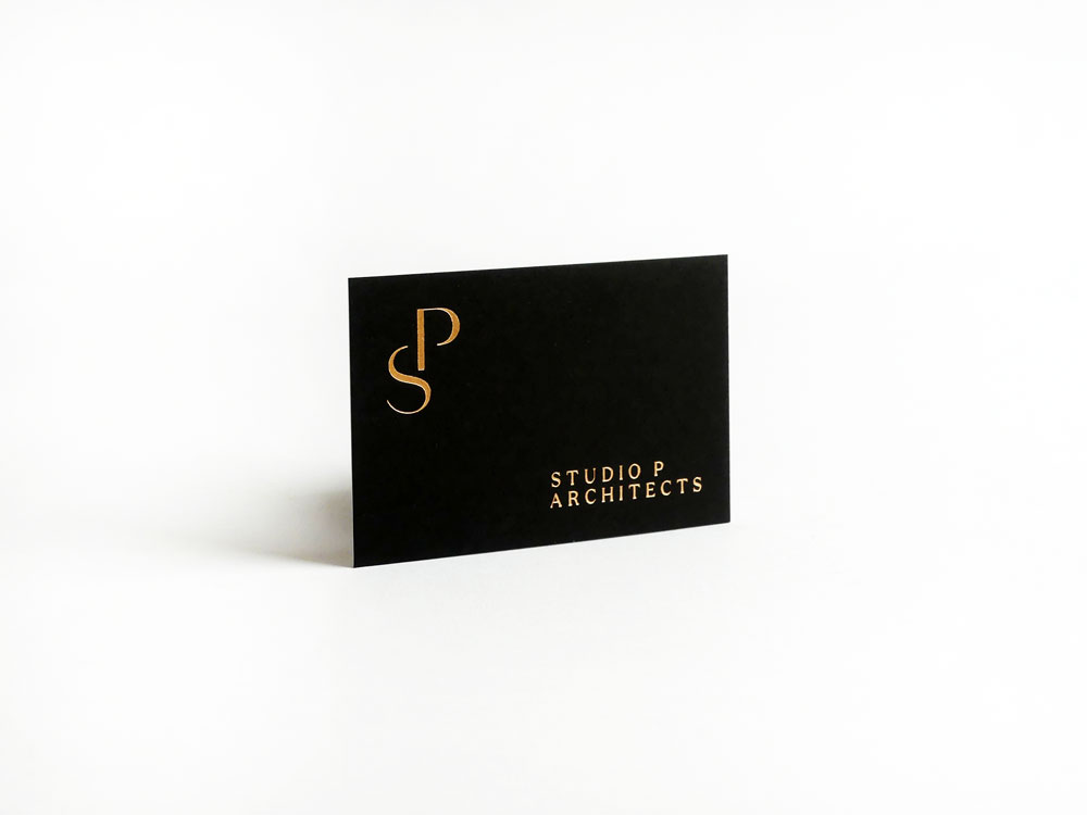 business card hotfoil